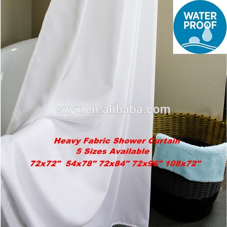 Check out this product on Alibaba.com App:White Fabric Shower Curtain Liner Water Repellent heavy weight bathroom curtain hotel curtain for shower 72x72-white https://m.alibaba.com/6N3uA3