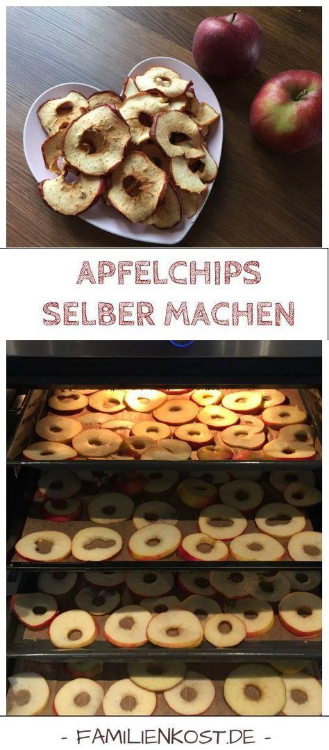 Rezept um Apfelchips im Ofen selber zu machen. Gesund naschen kann so einfach sein. Die knusprigen Apfelringe schmecken der ganzen Familie inklusive Baby und sind eine gesunde Süßigkeit für Kinder. Was ihr außer Apfel noch braucht, findet ihr in der Anleitung: http://www.breirezept.de/rezept_apfelringe_selber_machen.html
