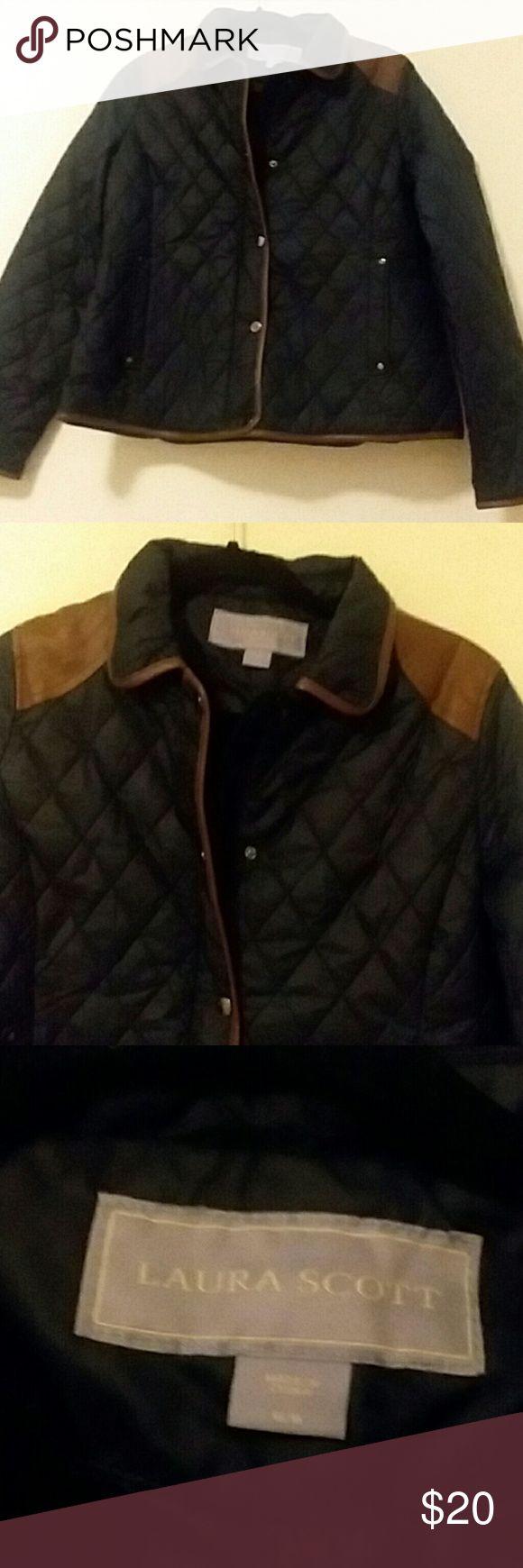 🌒 NWT Laura Scott navy blue jacket coat - size m NWT Laura Scott Jackets & Coats