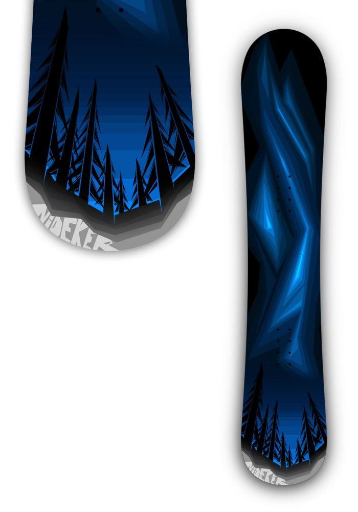 Nidecker Snowboard Graphic Design - Mike Serafin