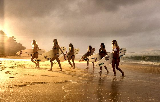 WOMEN SURFING   All girl surf films. Female surf movie experiences. Women have been ...