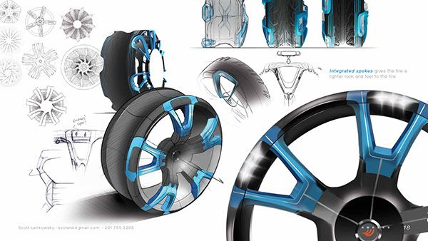 A concept tire project sponsored by Hankook, this concept can reduce rolling resistance and save energy.