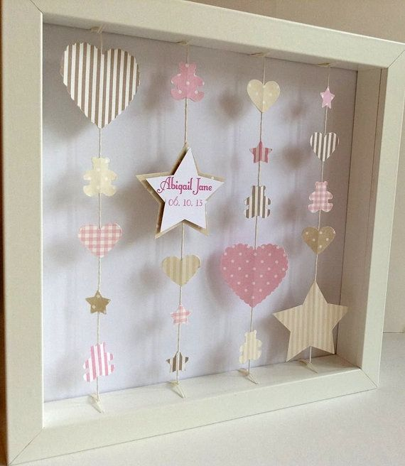 Personalised Framed Paper Art Picture by LittleLoveliesCraft