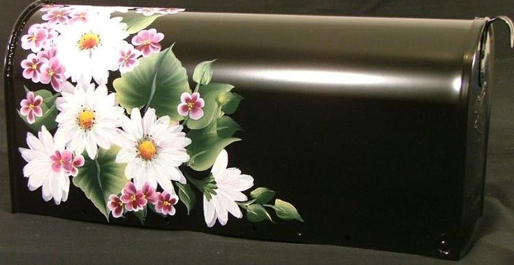 hand painted mailboxes | Details about Hand Painted Mailbox Daisy Wildflower Flower Mail Box