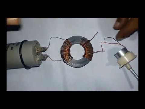 Experiment 12v DC to 220v AC Inveter (using relay) - YouTube