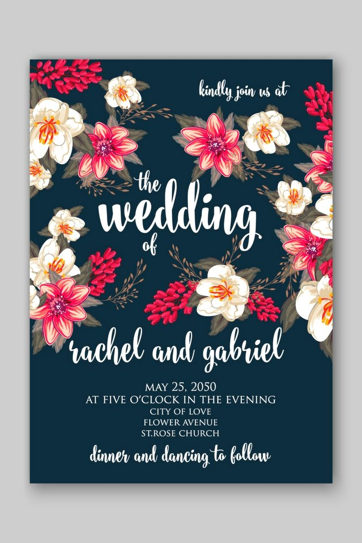 fully personalized modern and good value wedding invitation
