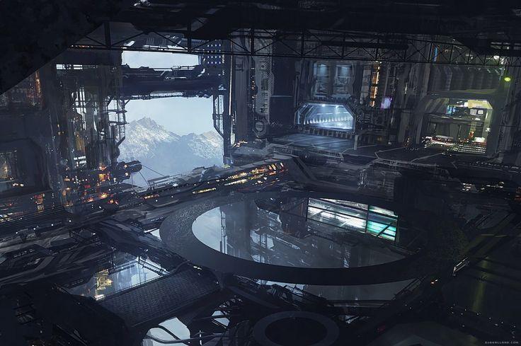 Northern Conveyor [( Science-fiction, dystopia, future noir, Blade Runner, cyberpunk, night skylines, dark city, Metropolis )]