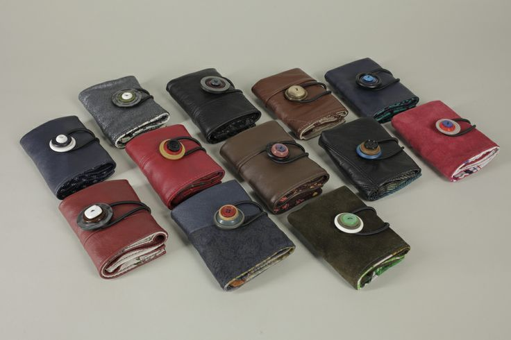 Recycled leather wallets from Rio Branner www.riobranner.etsy.com