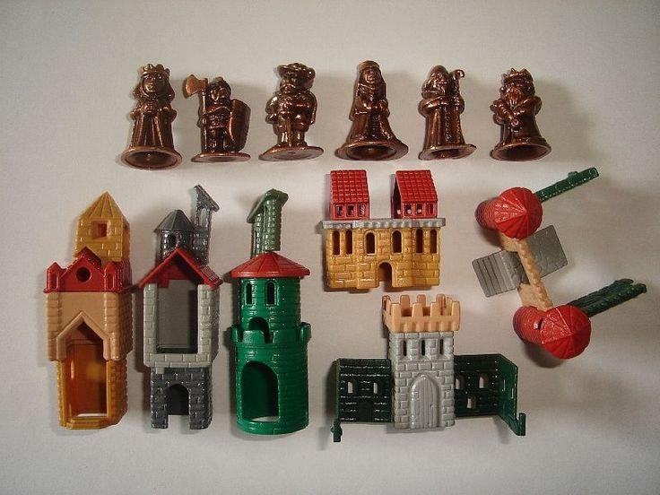 Metal Figurines Set Castle Royal Suite Copper Kinder Surprise Miniatures | eBay