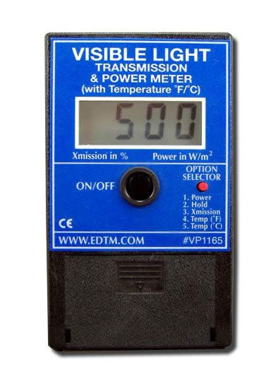 The VP1165 measures the FULL visible light spectrum (400 to 700 nm). Glare from computer monitors is a major cause of eyestrain in the office and home environment. Reducing visible light transmission through windows can greatly reduce this common ailment. The VP1165 meter can be used for evaluating the tint of windows, films and other transparent materials. Buy it here $198.70
