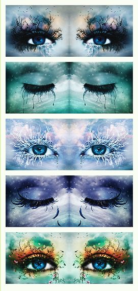 "Tahereh Mafi's ""Shatter Me"" series: eye art extraordinaire (credit: neitherheavenorhell on tumblr)"