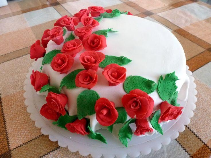 Торт с Розами из Сахарной Мастики