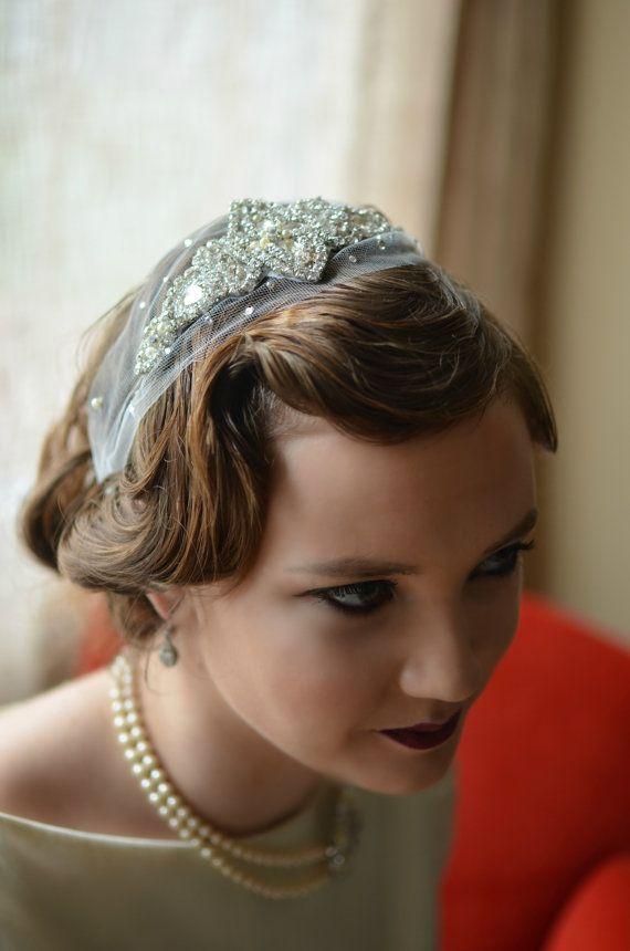 Art Deco Headpiece,Wedding Headpiece,Crystal Headpiece,Vintage Headpiece,Rhinestone Headpiece,Bridal Headband, Gatsby, Weddings, Accessories
