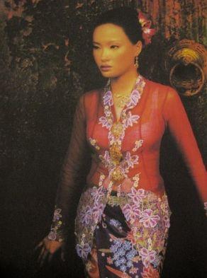 The Nyonya Kebaya - intricately embroidered.