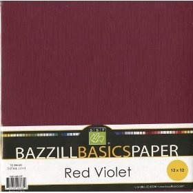 Bazzill Basics 12 by 12-Inch 25-Sheet Cardstock, Red/Violet Assortment