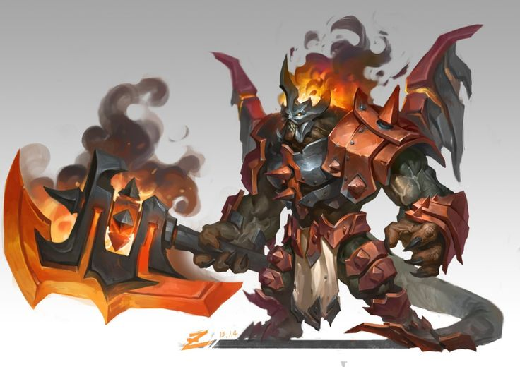 Fantasy Character Hand-painted Concept Warrior Demon