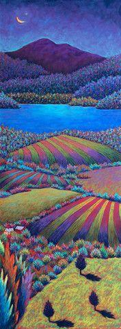 Evening Fields Over Lake Champlain