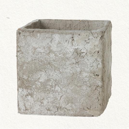 square pressed cement pot