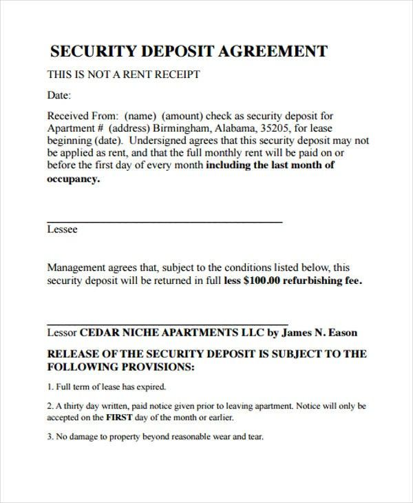 Security Deposit Form Template 3 Quick Tips For Security Deposit Form Template Security Templates Deposit
