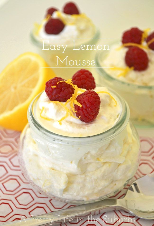 Easy Lemon Mousse // 5 ingredients!