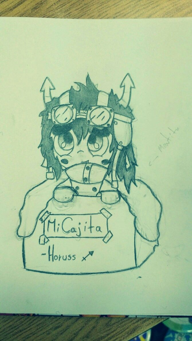 Chibi Horuss on a box