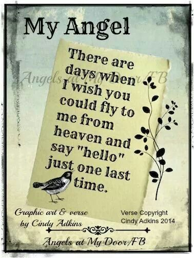 To My Angel In Heaven Thinking Of Our Loved Ones Pinterest