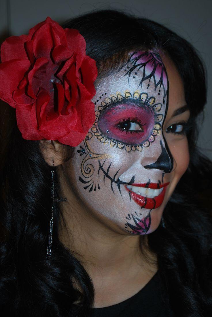 Ber ideen zu mexikanische totenmaske auf pinterest hexe schminken halloween make up - Mexikanische totenmaske schminken ...