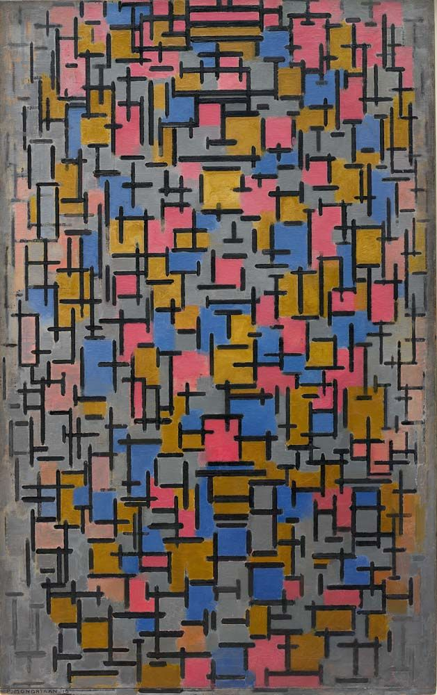 Compositie (Composition), 1916 by Piet Mondrian