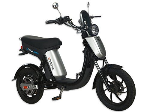GIGABYKE GROOVE 48V Eco-Friendly Electric Moped Scooter E-Bike- Black 750W