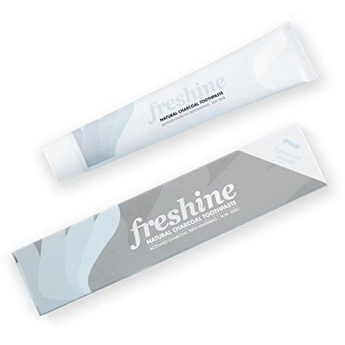 Activated Charcoal Teeth Whitening Toothpaste: Natural Mint SLS & Fluoride Free Dental & Oral Care Whitener Kit - Eliminates Halitosis Bad Breath and Whitens Stained Teeth & Enamel Better Than Strips