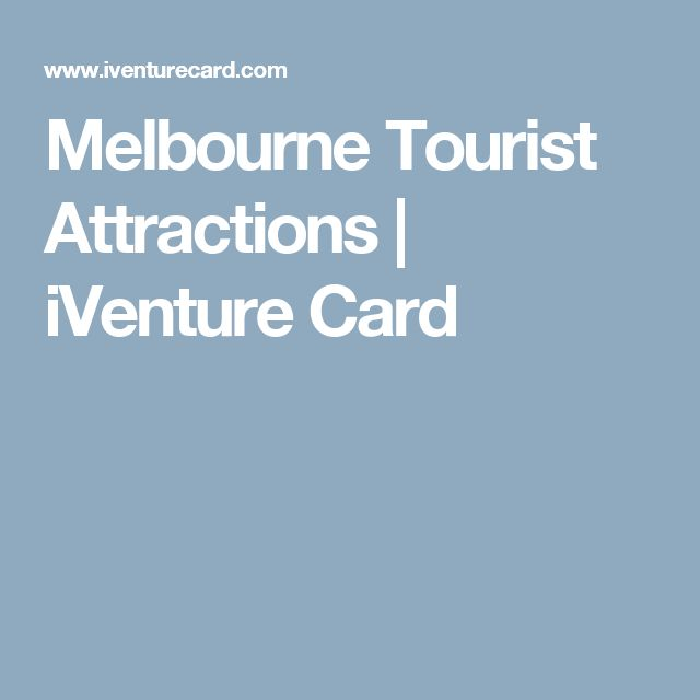 Melbourne Tourist Attractions | iVenture Card