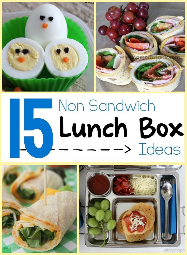 15 great lunch ideas for when sandwiches start to get boring. Perfect for school or work!   Non-Sandwich Lunchbox Ideas - TypicallySimple.com
