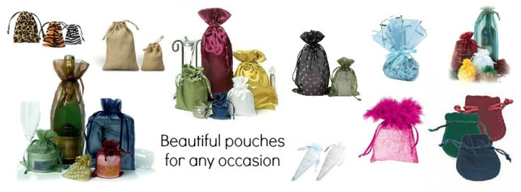 Pouches are great for gifts and trinkets. With our wide range of materials and sizes you will be spoilt for choice!