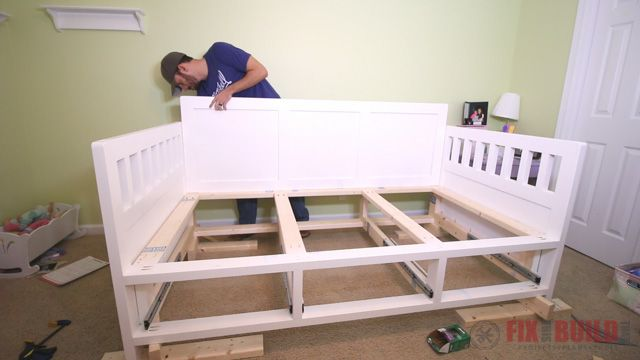 Diy Daybed With Storage Drawers Twin Size Bed With Images