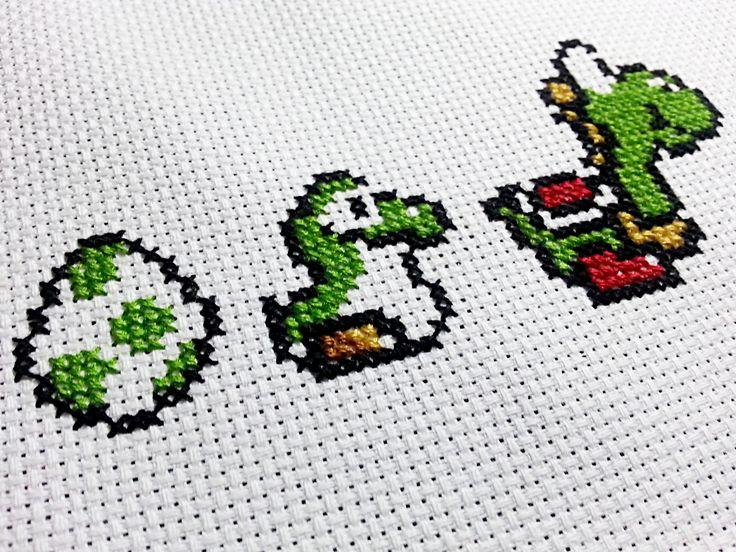 Yoshi Cross-Stitch Pattern