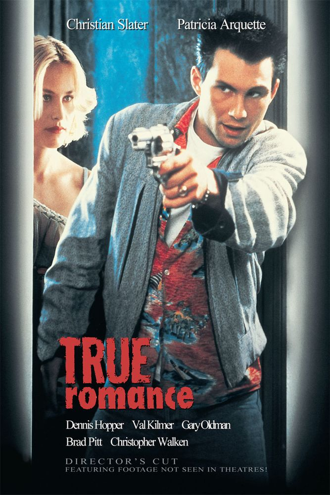 True Romance (Unrated) Movie Poster Val Kilmer, Paul Ben
