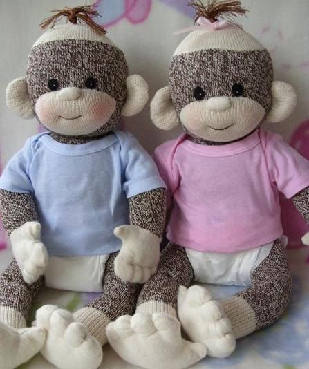 PDF PATTERN and supplies Baby Sock Monkey by LaliDolls on Etsy