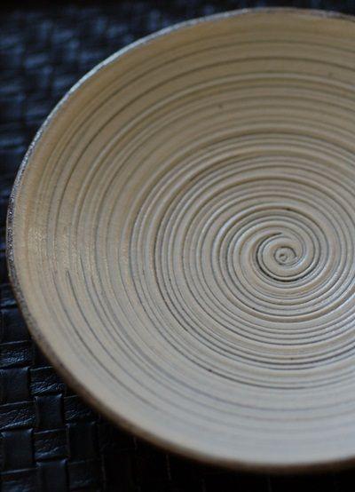 奥田章作 渦刷毛目 5寸 8寸皿