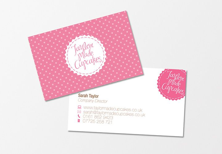 Taylor Made Cupcakes - Business Cards - Creattica