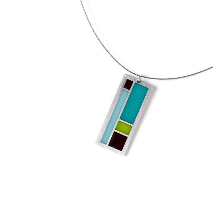 Color Block Necklace by Kathleen Mattingly Dautel (Spark Metal Studio)