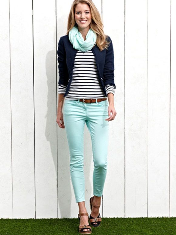 Love the mint jeans!!! Surprisingly, I like it paired with the navy. Fashion Fix: mintkleurige jeans #stitchfix