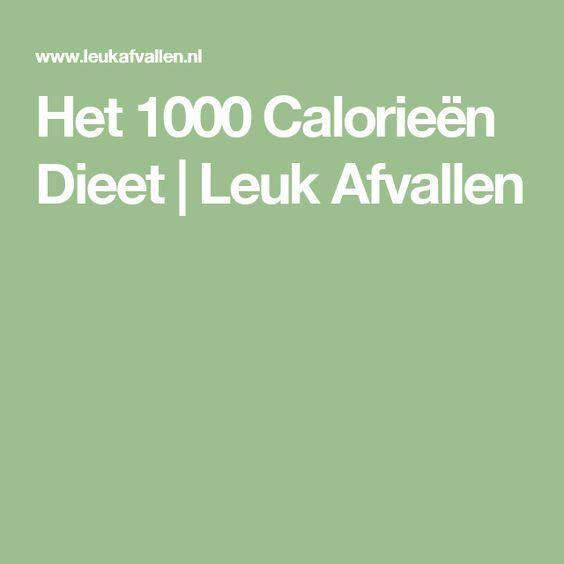 Het 1000 Calorieën Dieet | Leuk Afvallen