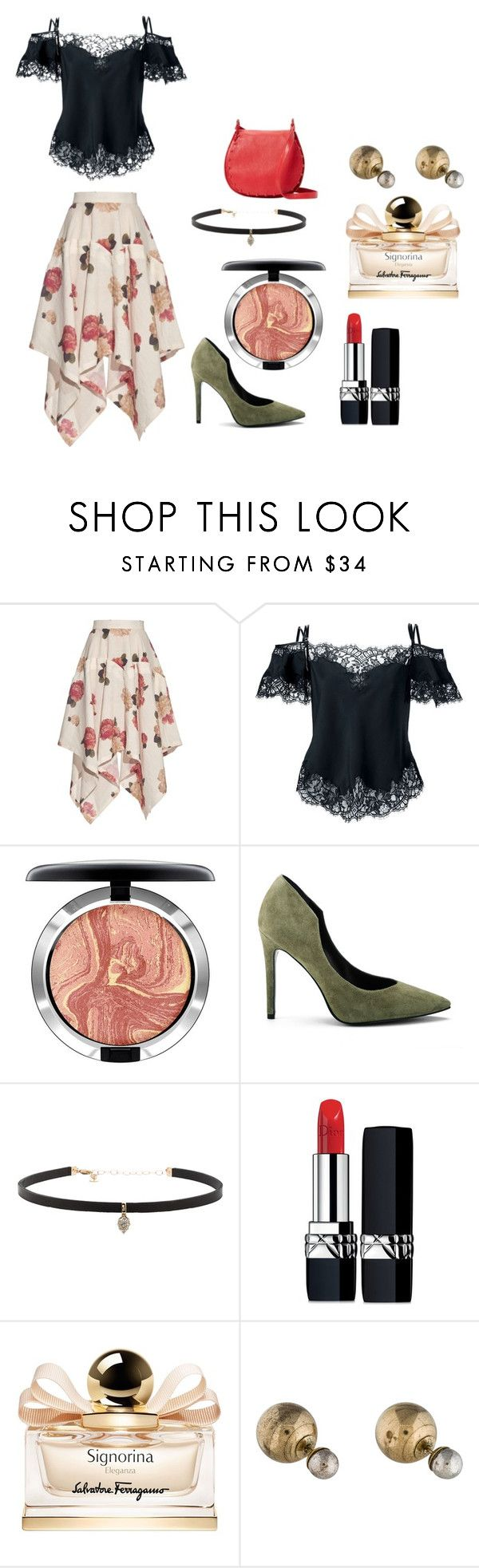 """""""Rose County"""" by vishkah ❤ liked on Polyvore featuring A.W.A.K.E., Givenchy, MAC Cosmetics, Kendall + Kylie, Carbon & Hyde, Christian Dior, Salvatore Ferragamo and Cynthia Rowley"""