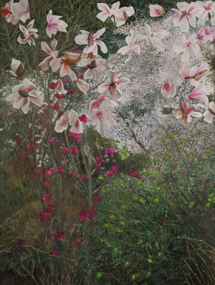 """Saatchi Art Artist Alii Scott; Painting, """"The Jury Garden"""" #art"""