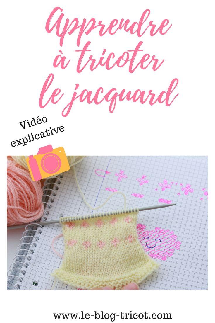 Tuto vidéo pour apprendre à tricoter le jacquard. Tricot débutant, modèle tricot facile, apprendre le tricot, patron tricot gratuit