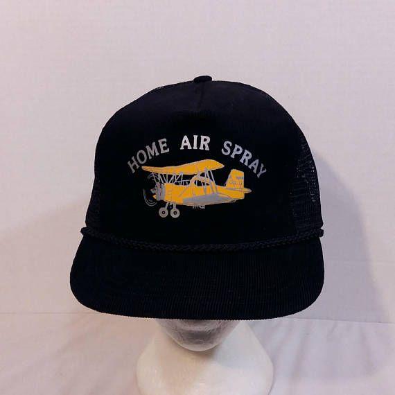 1b6ac2b44 Home Air Spray Air Plane Biplane Dad Truckers Baseball Hat Cap ...