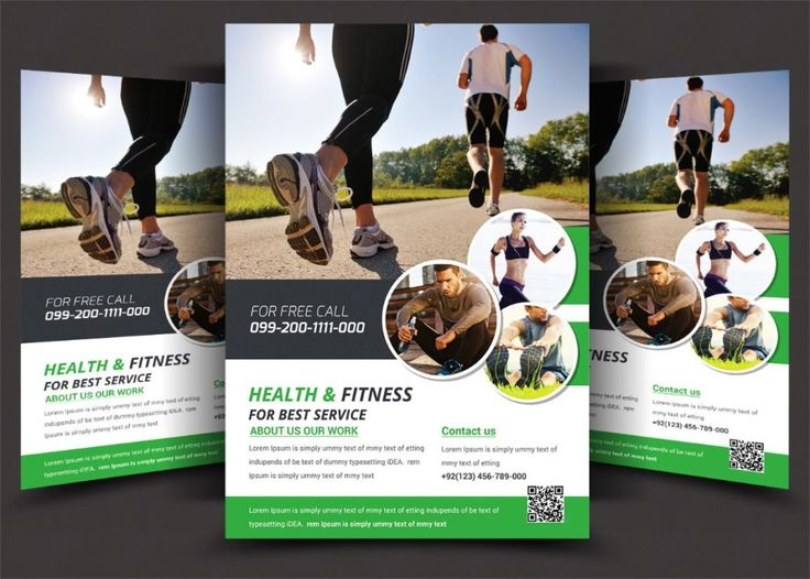 Best  Fitness Flyer Template Psd For Fitness Center Gym And