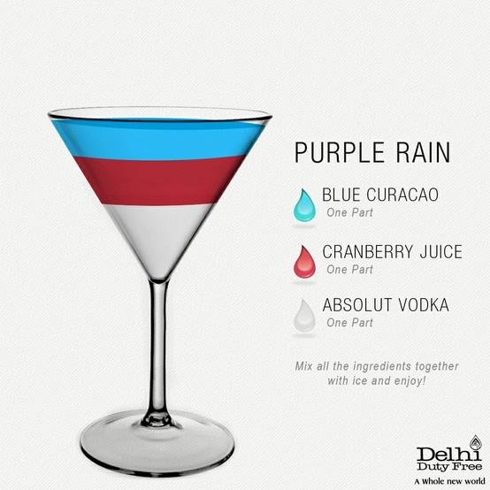 Purple rain cocktail ddf bartender pinterest rain for How to make martini cocktail