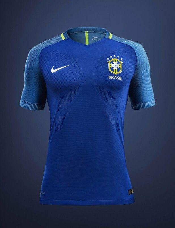Camisas do Brasil 2016-2017 Nike Azul Reserva