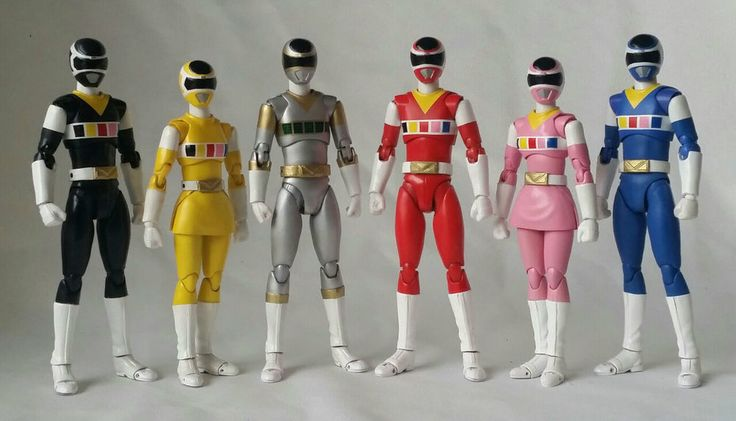 Bandai S.H. Figuarts Megaranger Power Rangers In Space custom action figure set made by yours truly. #SHFiguarts